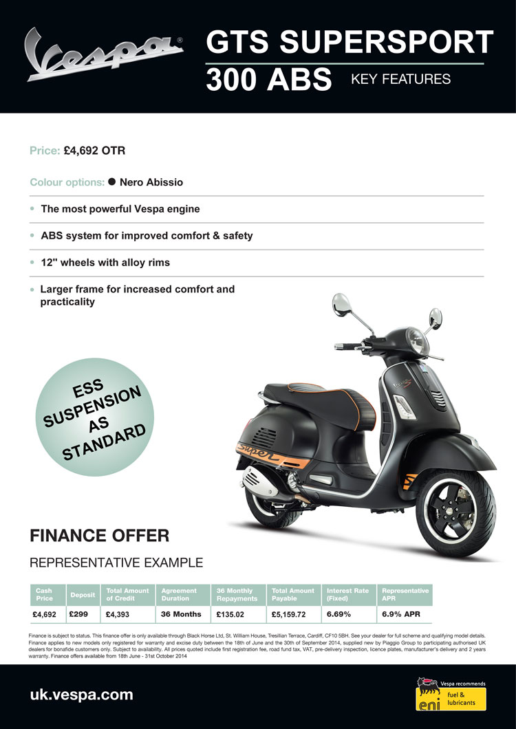 New vespa finance deals